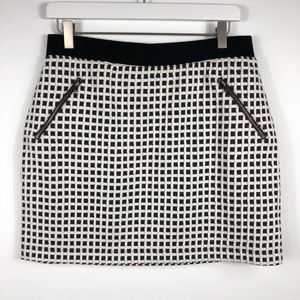 LOFT | Lou & Grey Mini Windowpane Skirt, NWT